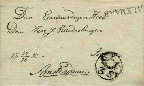 POSTAL HISTORY OF A FAMOUS SMALL DUTCH TOWN: ALKMAAR | Collection Bob Muller
