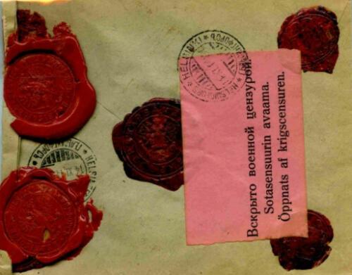 POSTAL CENSORSHIP IN FINLAND 1914-1918 | Collection René Hillesum