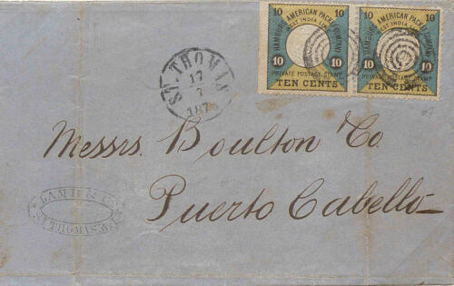 DEVELOPMENT OF THE POSTAL SERVICES IN THE DANISH WEST INDIES 1850-1880 | Collection Jan Dekker